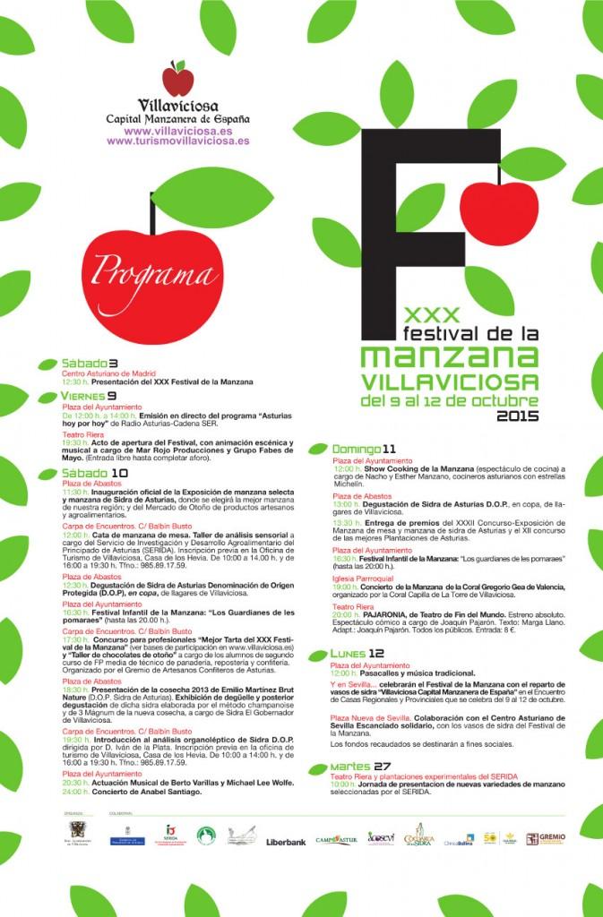 Programa festival de la manzana